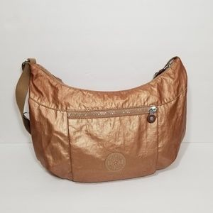Kipling | rose gold metallic Jazmyn shoulder bag
